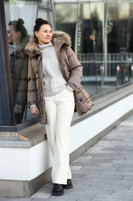 S´MaxMara cube down jacket with a hood